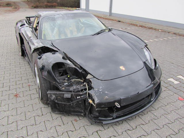 porsche carrera gt unfallwagen totalschaden ebay. Black Bedroom Furniture Sets. Home Design Ideas